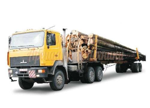 Перевозка леса лесовозом МАЗ 6422А5-320 сортиментовоз